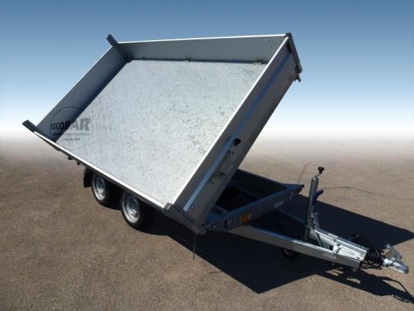 3-Seiten Kipper 3500 kg 335x180 cm mit Blattfeder Auffahrpaket & Stahlboden