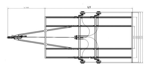 Fahrgestell Bausatz komplett für Autotransporter mit 2000 kg zul GG