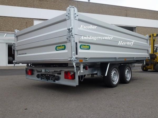 UDK 3-Seitenkipper 3000kg - 366x204x70cm m. Bordwandaufsatz